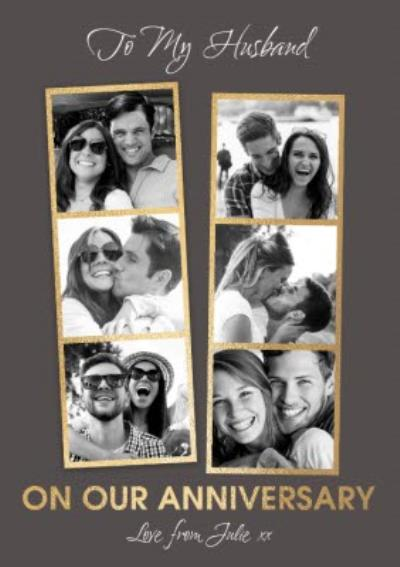 To My Husband On Our Anniversary Photo Upload Card