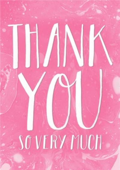 Pink And White Wash Personalised Thank You Card