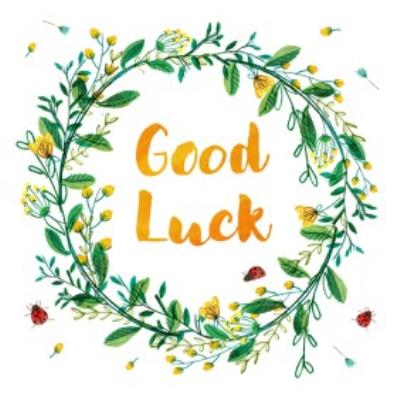 La Jolie Boutique Wreath Good Luck Card
