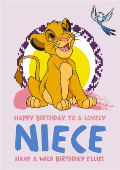 Disney Lion King Happy Birthday Card - To a Lovely Niece