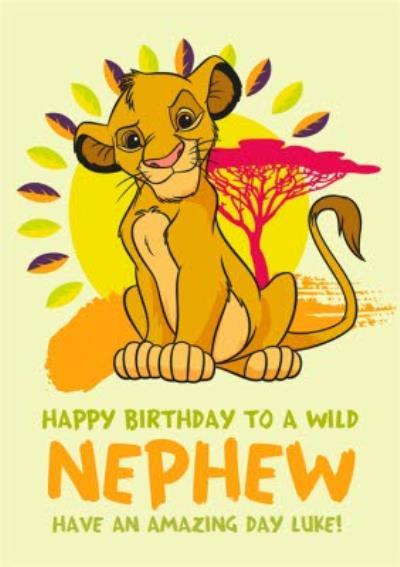 Disney Lion King Happy Birthday Card - To a Wild Nephew