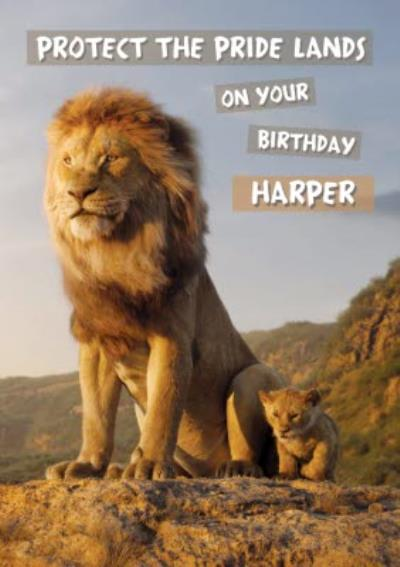 Protect the Pride Lands on our Birthday The lion King film card