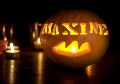 Personalised Halloween Pumpkin Name Card