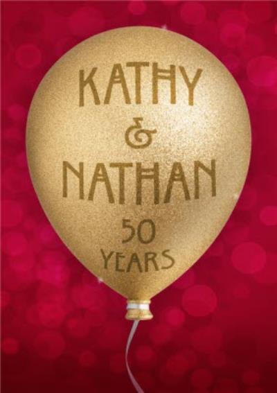 Personalised 50th Anniversary Card