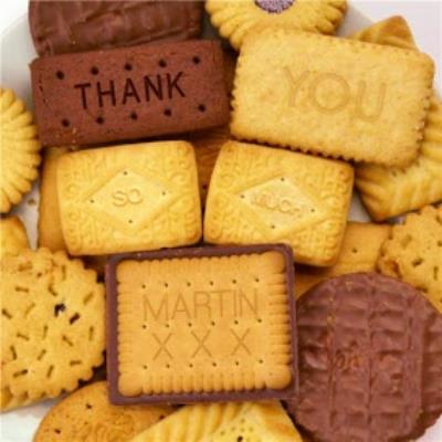 Personalised Thank You Biscuits Card