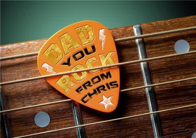 You Rock Guitar Pick Personalised Birthday Card For Dad