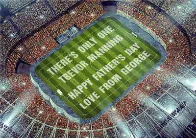 There's Only One Football Pitch Personalised Happy Father's Day Card