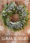 Merry Christmas Wreath Christmas Card