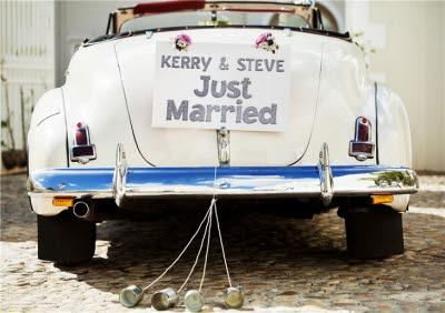Just Married Car Personalised Text Card