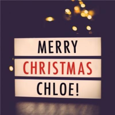 Cinema sign Christmas card