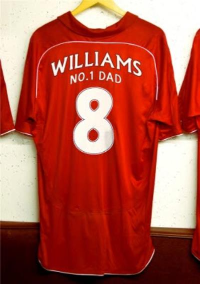 Personalised Football Jersey Father's Day Card