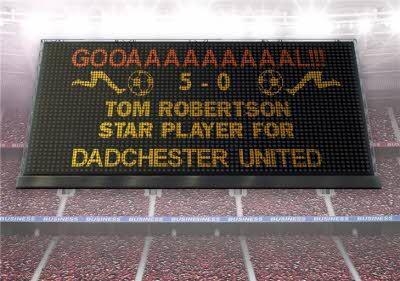 Personalised Star Player For Dadchester Football Father's Day Card