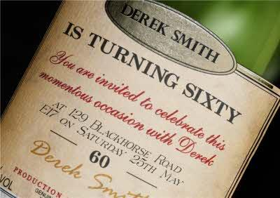 Vintage Wine Label Personalised Card