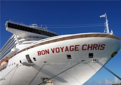 Name On Cruiseliner Personalised Bon Voyage Card
