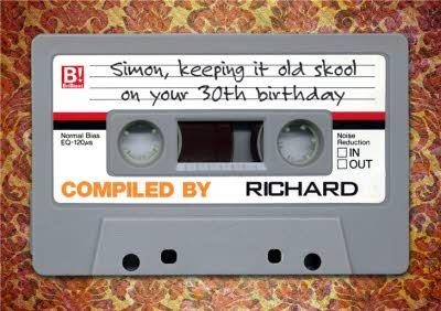 Retro Audio Cassette With Message Personalised Happy 30th Birthday Card