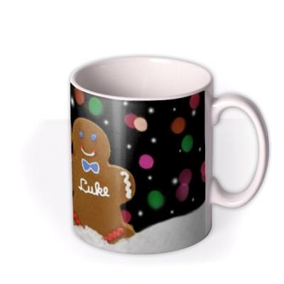 Christmas Gingerbread Personalised Mug