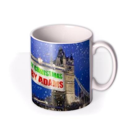 Christmas Tower Bridge Personalised Mug