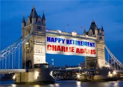 Tower Bridge With A Message Personalised Happy Retirement Card