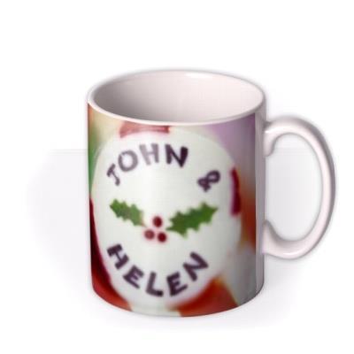 Christmas Stick of Rock Personalised Mug