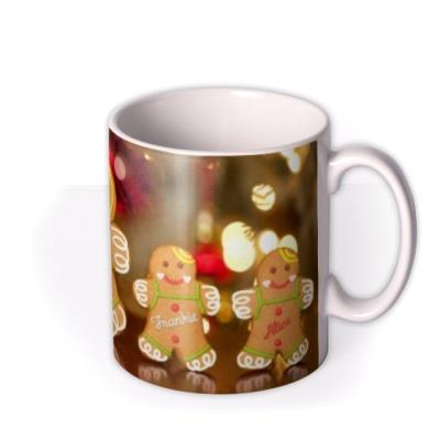 Christmas Gingerbread Family Personalised Mug