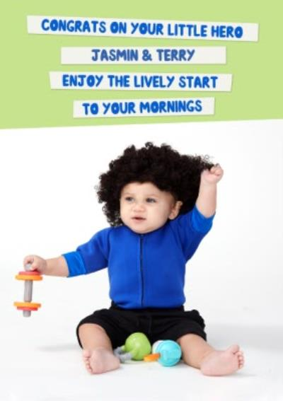 Mind Charity New Baby Card Featuring A Little Lockdown Hero Personal Trainer