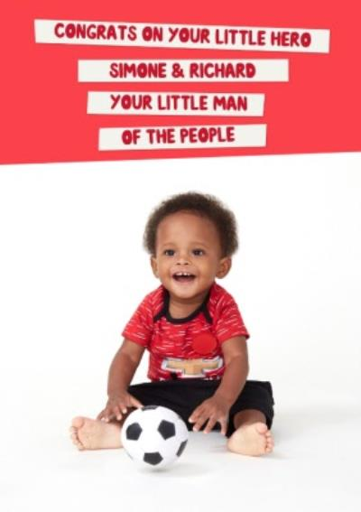 Mind Charity New Baby Footballer Card Featuring A Little Lockdown Hero