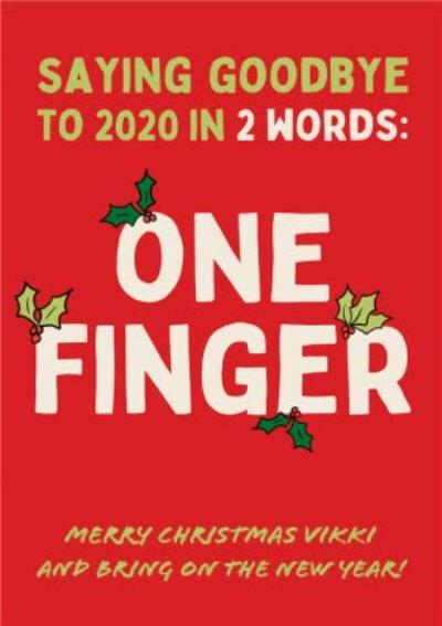 Funny Saying Goodbye To 2020 In 2 Words Covid Christmas Card