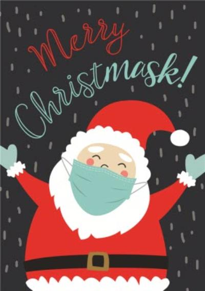 Merry Christmask Funny Covid Card