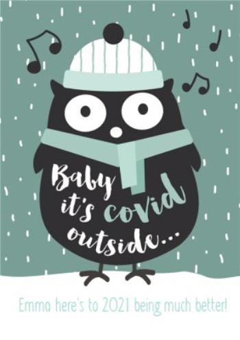Baby It S Covid Outside Funny Christmas Card Moonpig