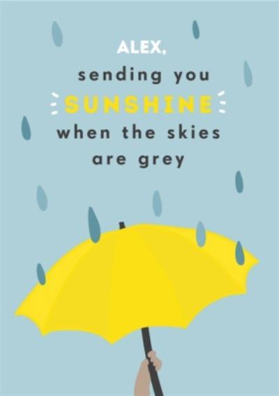 Sending You Sunshine Thinking Of You Card