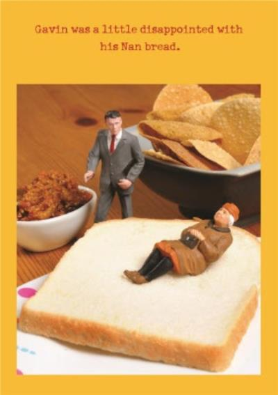Nan Bread Funny Joke Personalised Happy Birthday Card