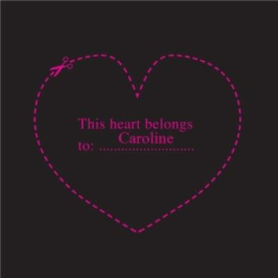 My Heart Belongs To Personalised Valentines Card