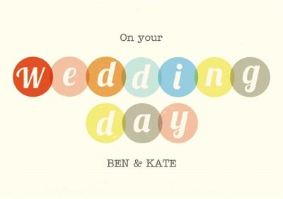 Colourful Personalised Wedding Day Card