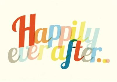 Colourful Happily Ever After Wedding Day Card
