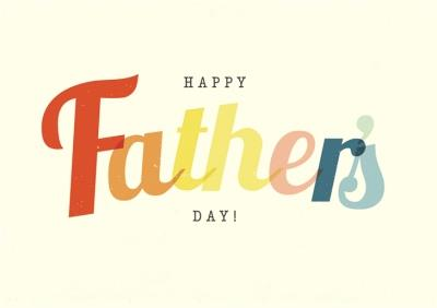 Colourful Vintage Lettering Father's Day Card