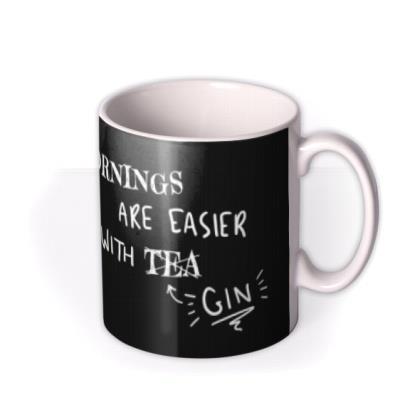 Funny Mornings Are Easier With Tea Retro Mug