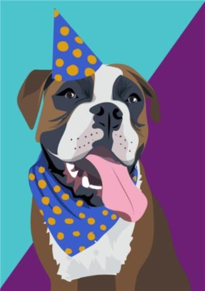 Illustrated Party Hat Boxer Card