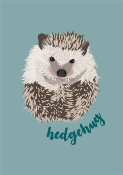 Illustrated Hedgehog Hug Pun Card