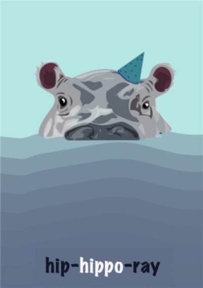 Illustrated Hip Hippo Ray Card