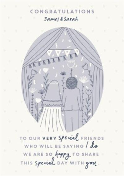 Wedding Card - Congratulations - To Our Very Special Friends