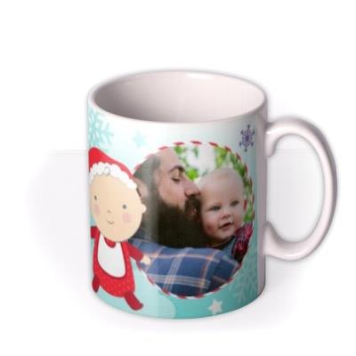 Merry Christmas Daddy and Baby Photo Upload Mug