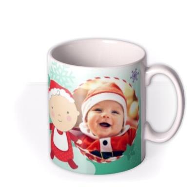 Merry Christmas Grandpa and Baby Photo Upload Mug