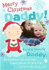 Merry Christmas To My Lovely Daddy Photo Card