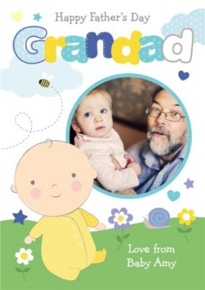 From The Baby Happy Father's Day Grandad Card