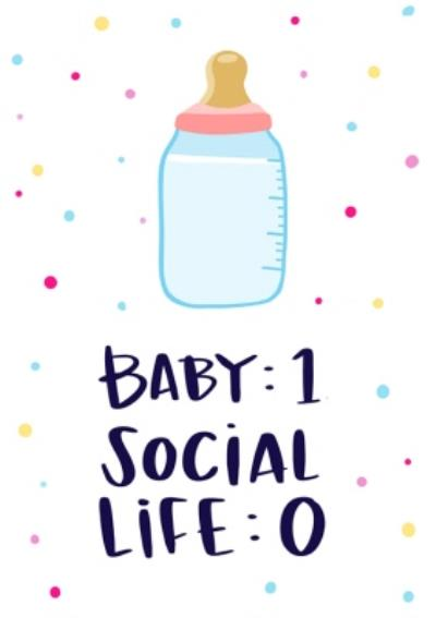 Lucy Maggie Modern Funny New baby Card