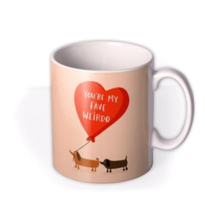 Lucy Maggie You're My Fave Weirdo Dogs Mug