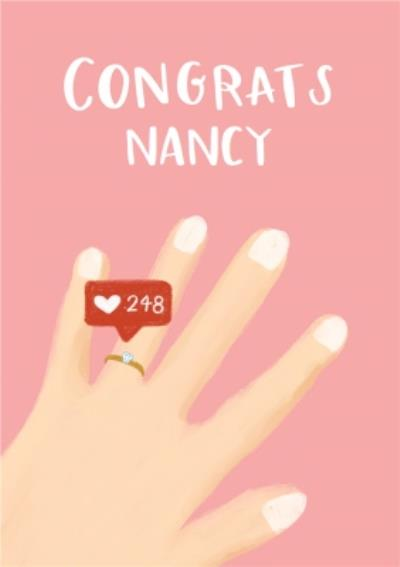 Lucy Maggie Congratulations On Your Engagment Instagram Social Media Likes Card