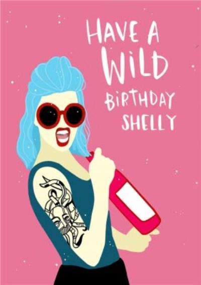Lucy Maggie Have A Wild Birthday Birthday Card
