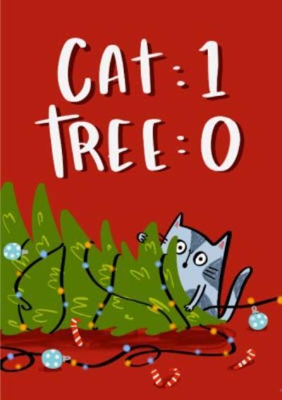 Cute Illustration Cat One Tree Zero Chris