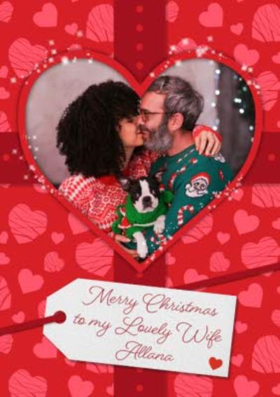 Love Actually to My Lovely Wife Photo Upload Christmas Card